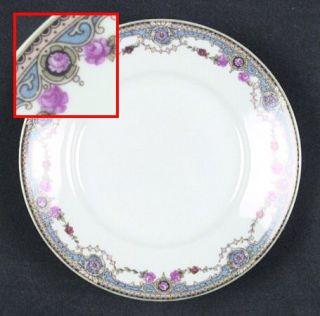 Crown China (Czech) 7143 Bread & Butter Plate, Fine China Dinnerware   Blue Band