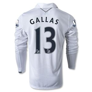 Under Armour Tottenham 12/13 GALLAS LS Home Soccer Jersey