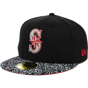 Seattle Mariners New Era MLB E Print 59FIFTY Cap