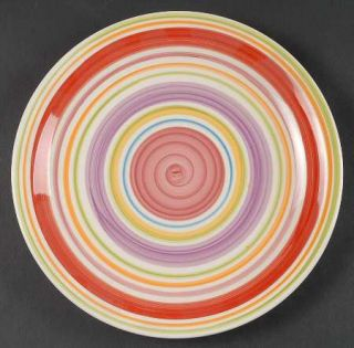 Gibson Designs Rosita Rainbow Dinner Plate, Fine China Dinnerware   Multicolor B