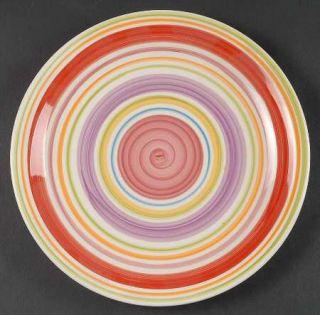 Gibson Designs Rosita Rainbow Dinner Plate, Fine China Dinnerware   Multicolor B