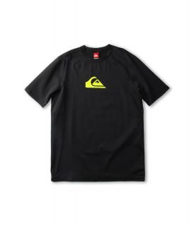 Quiksilver Kids Solid Streak S/S Rashguard Boys Swimwear (Black)