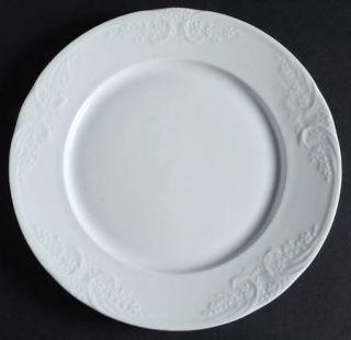 Christopher Stuart Batalha White Salad Plate Fine China Dinnerware White Emb & Christopher Stuart Batalha White Salad Plate Fine China Dinnerware ...