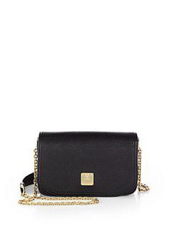 MCM First Lady Mini Shoulder Bag   Black
