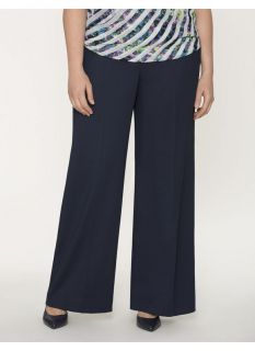 Lane Bryant Plus Size Lena soft twill wide leg pant     Womens Size 14,